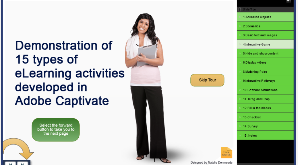 Interactions With Adobe Captivate Gamification Examples